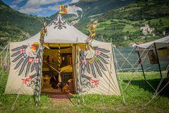 Zelt bei den Südtiroler Ritterspielen 2014