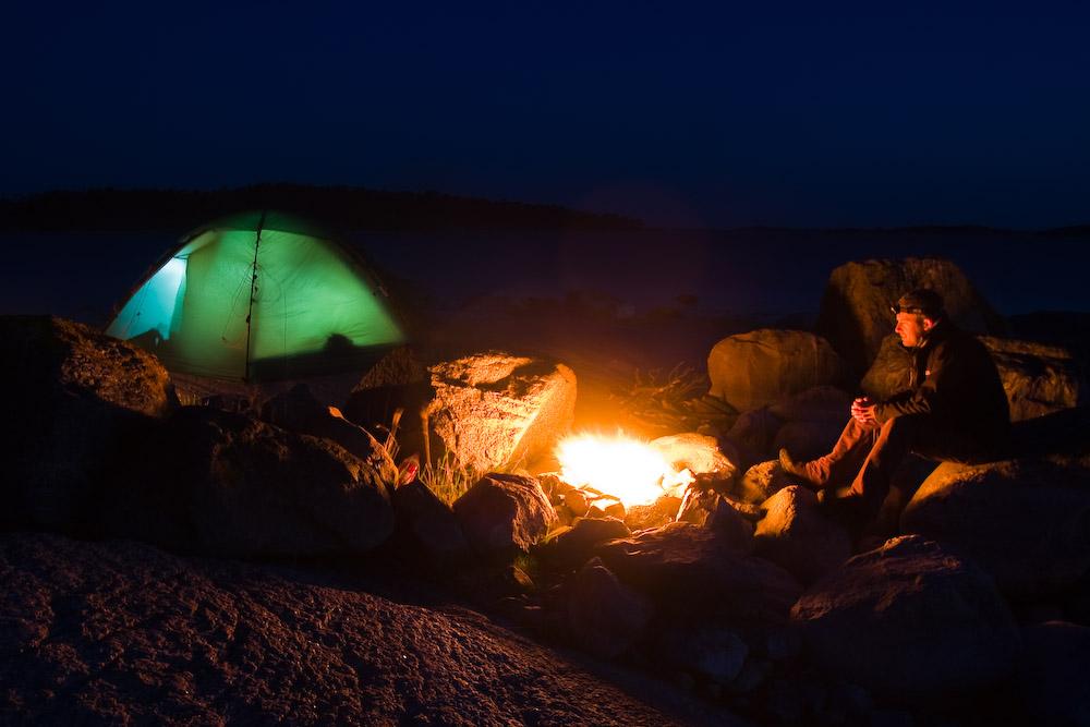 Zeltlager auf Ormskär