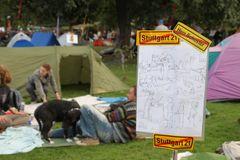 Zeltlager versus Räumung Sep10 in Stgt - K21