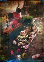 Zen garden con geisha