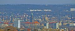 Zentrumsblick nach Dresden von der Babisnauer Pappel...