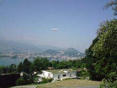 Zeppelin über Vierwaldstättersee