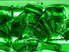 Zerbrochene Weinflaschen