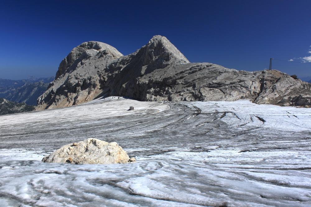 Zerfurchter Gletscher
