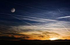 Zerkratzter Himmel