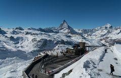 Zermatt-Gornergrat_Sicht zum Matterhorn