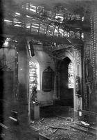 Zerstörte Kirche in Jametz Frankreich 1916
