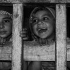 Zeynep hinter Gitter