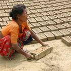 Ziegelei in Kathmandu
