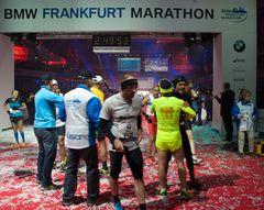 Zielbereich Marathon 2012 in Frankfurt