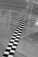 Zielgerade - Rennbahn - Reißverschluss