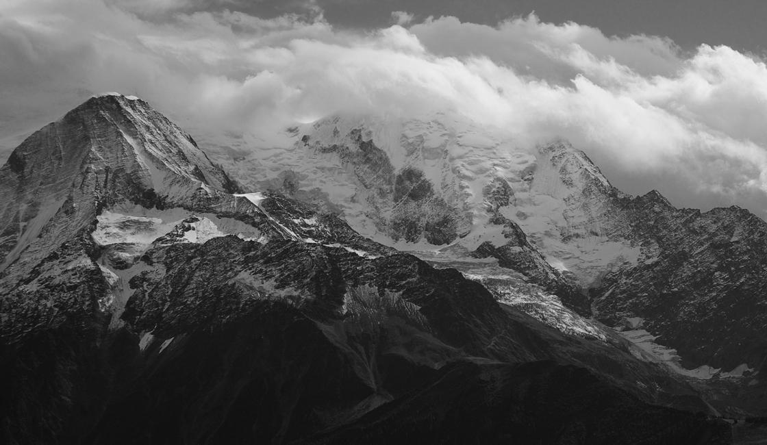Ziemlich stürmisch auf dem Mont Blanc