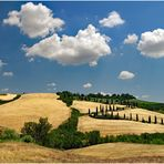 zigzaguer dans la campagne toscane ....