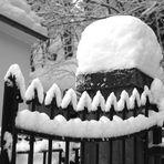 Zipfelmütze mit Zähnen