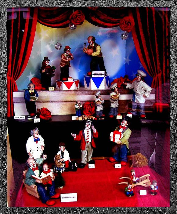 Zirkus im Schaufenster...