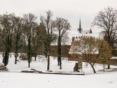 Zisterzienserkloster im Schnee