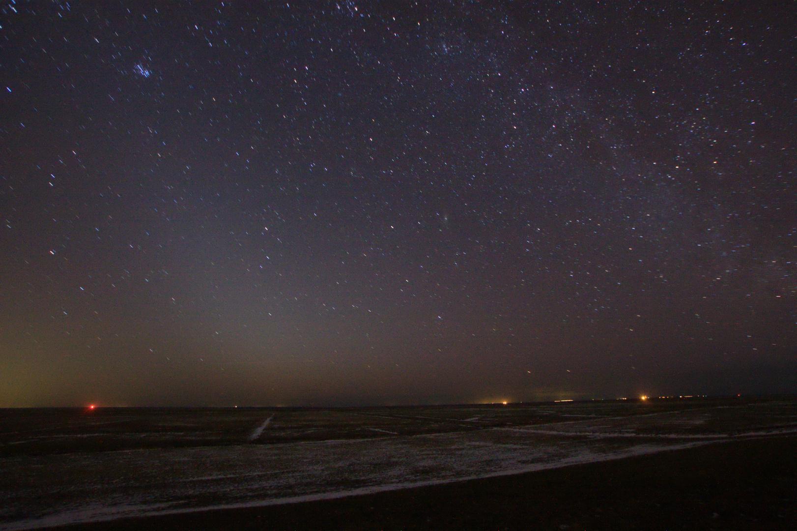Zodiakallicht an der Küste bei Arensch (Cuxhaven)