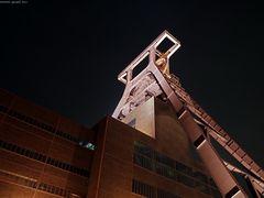 Zollverein Fördergerüst Rückseite