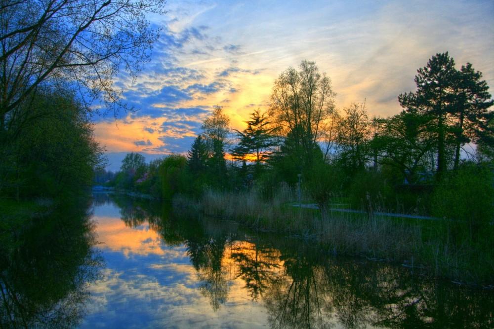 Zonsondergang in Amstelveen