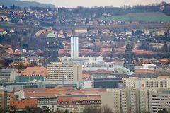 Zoom aufs Stadtzentrum von Dresden