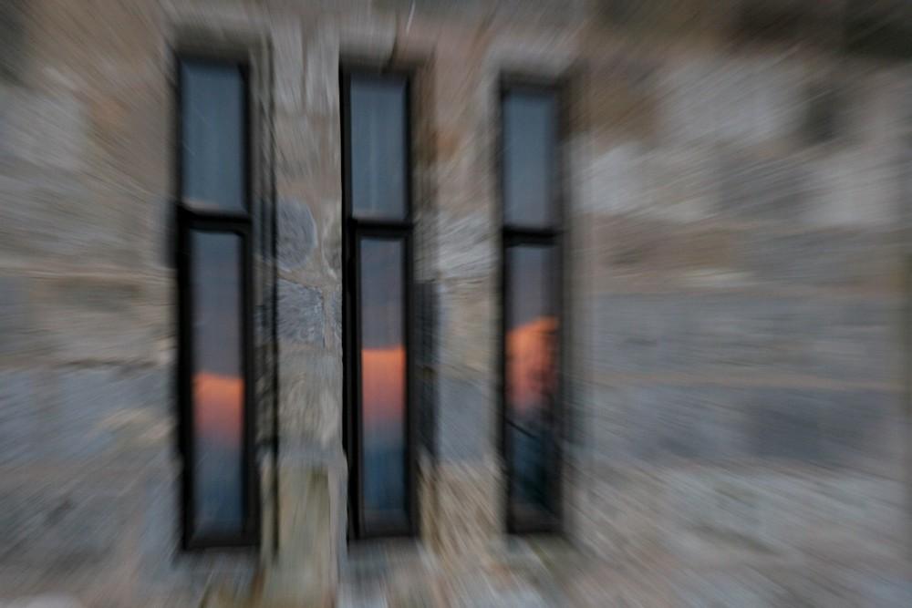 Zoom-Fenster beim Sonnenuntergang