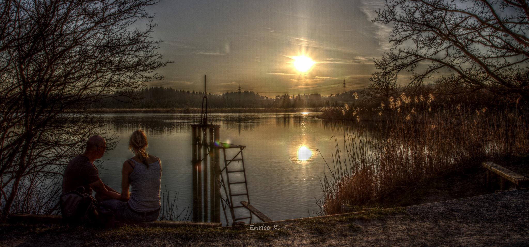 Zu zweit in den Sonnenuntergang ... (HDR Version)