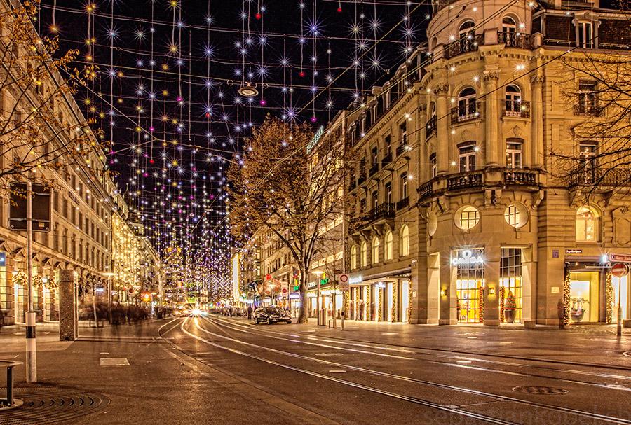 Zürich Weihnachtsbeleuchtung.Zürich Bahnhofstrasse Foto Bild Europe Schweiz Liechtenstein