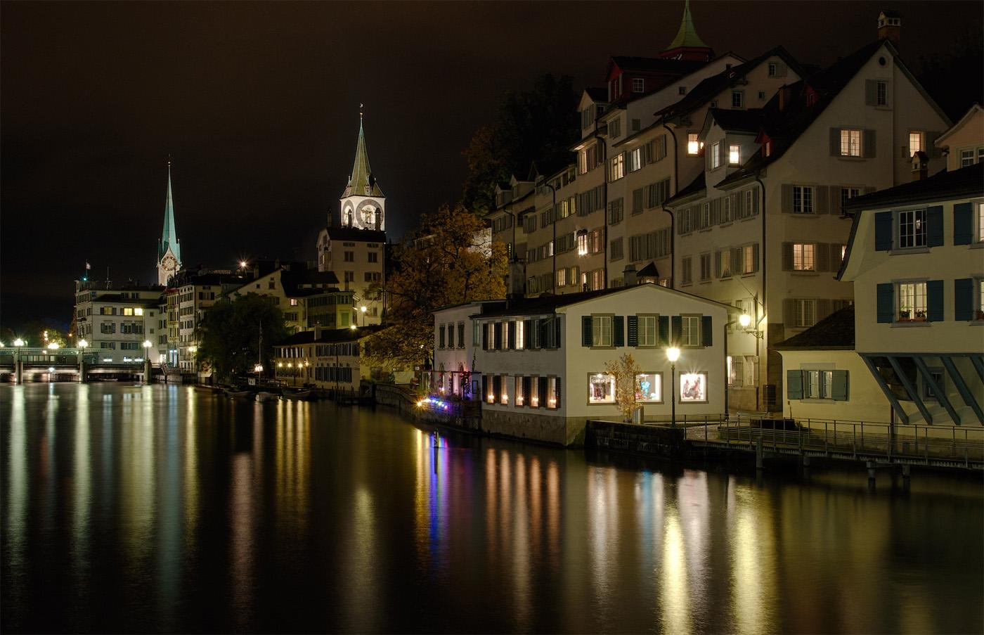 Zürich by night - Schipfe