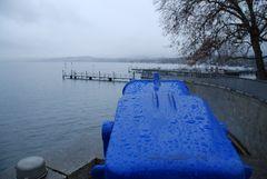 Zürichsee bei Regen