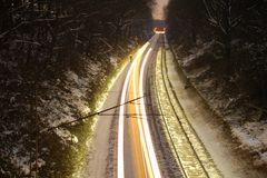 Zug bei Nacht ---- in fahrt ;)