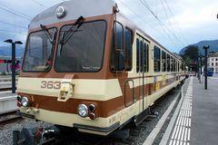 Zug der Linie Aigle-Leysin