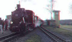 Zug der Mansfelder Bergwerksbahn......