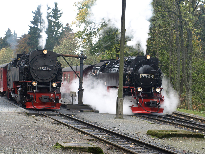 Zugbegegnung in Drei Annen Hohne