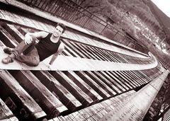 Zugbrücke ohne Schienen...