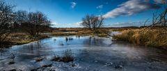 Zugefrorener Teich am Tütsberg
