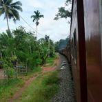Zugfahrt in Sri Lanka - die Chinesen werden dies ändern