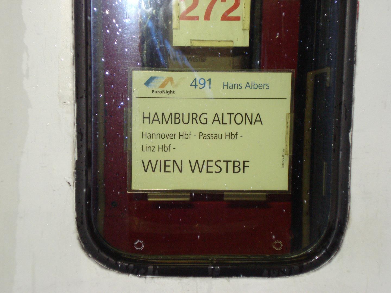Zuglaufschild EN 491 Hans Albers