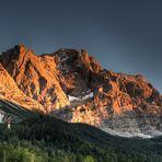 Zugspitze im Sonnenuntergang
