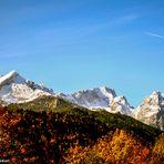 Zugspitzmassiv im Herbst