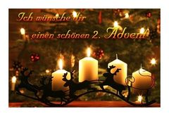 Zum 2. Advent alles gute.