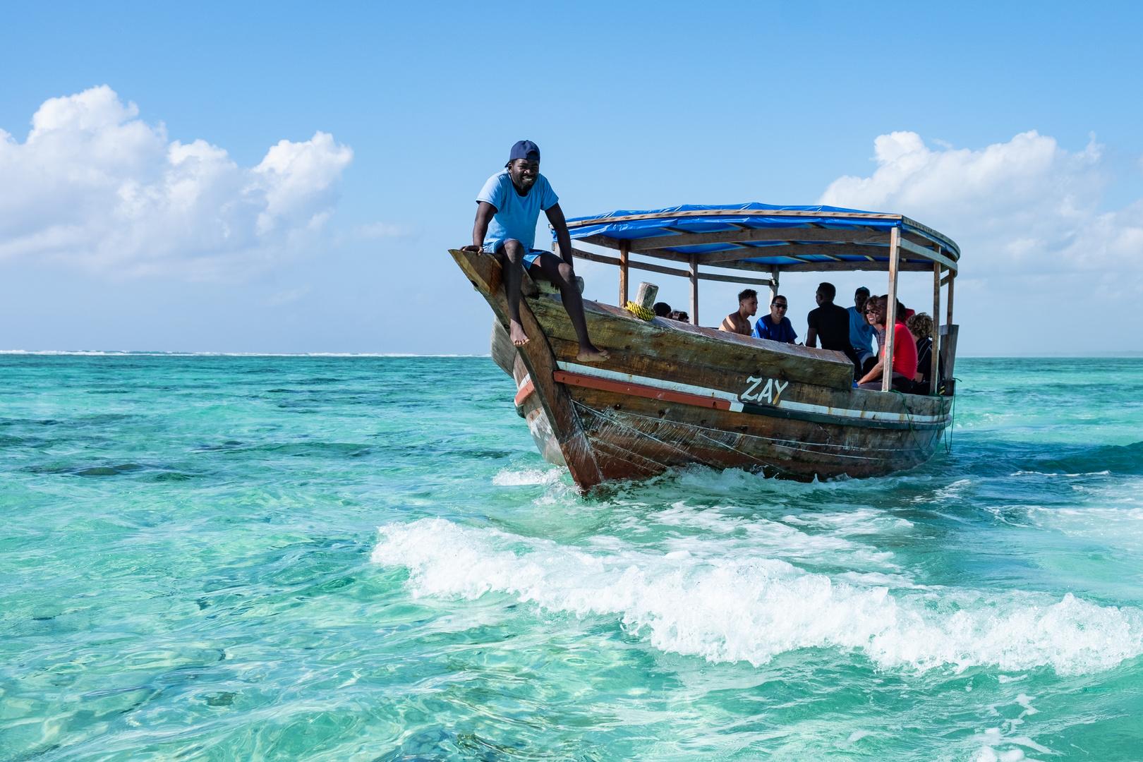 Zum Schnorchelausflug auf Sansibar