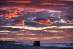 Zum Sonnenuntergang gucken an den Strand