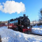 Zum Spiegeltag....neuer Zug in alter Dampflok gespiegelt...