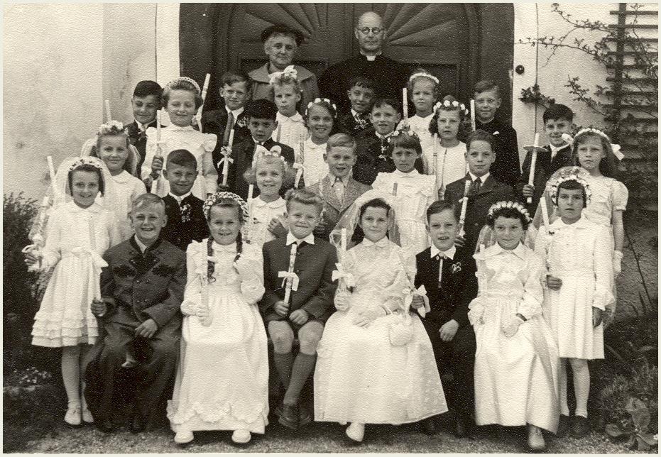 Zum Weißen Sonntag : Erstkommunion 1956 in Bad Mitterndorf in der Steiermark