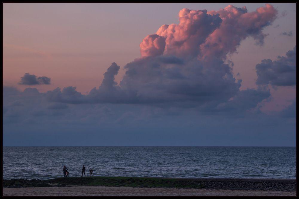 Zur blauen Stunde am Meer...