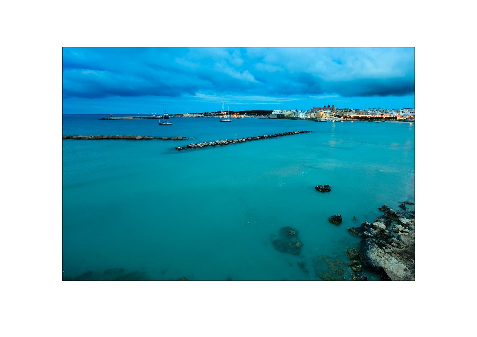 Zur blauen Stunde am Meer