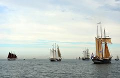 Zur Hanse Sail 2015 auf der Ostsee vor Warnemünde