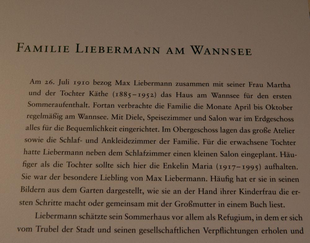 zur Sommer-'Idylle' der Liebermanns ( I.)