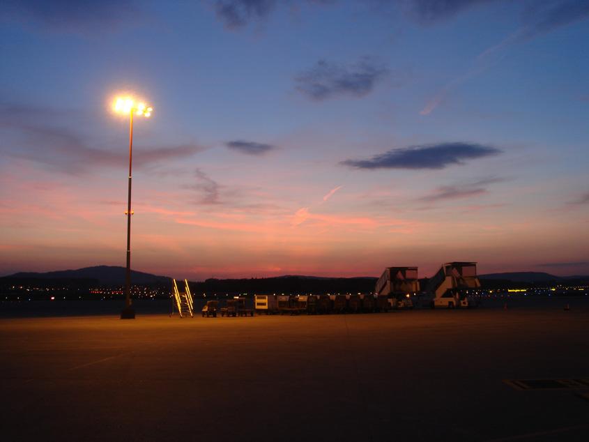 Zurich airport - Evening impression