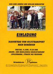 zurück aus Rumänien--Einladung zum Dia-Vortrag